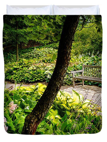 Garden Bench Duvet Cover