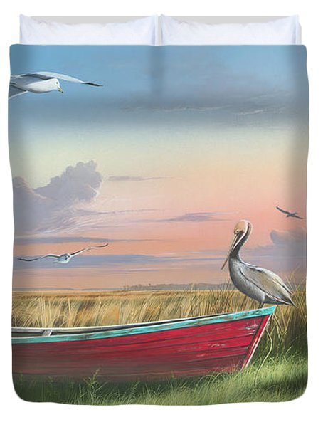 Gathering At Sunrise Duvet Cover