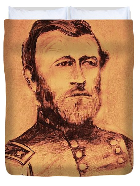 Duvet Cover featuring the painting General Us Grant by Eric  Schiabor