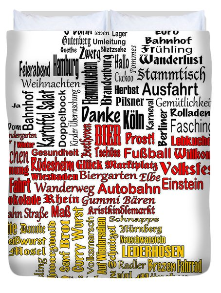Germany Map Duvet Cover