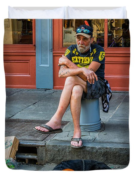 Gettin' By In New Orleans Duvet Cover by Steve Harrington