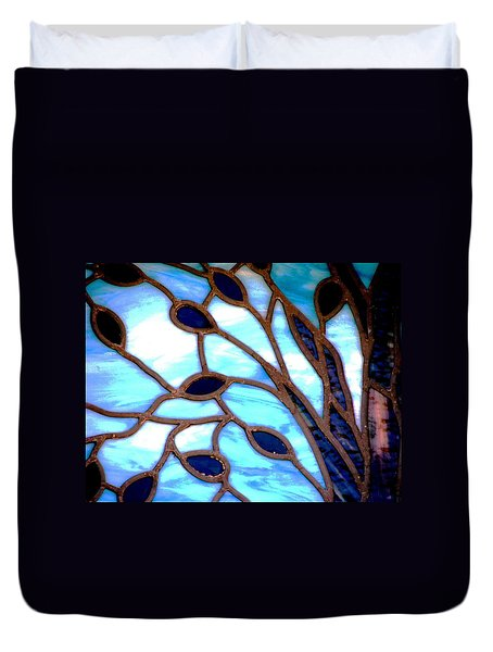 Gettysburg College Chapel Window Duvet Cover by Angela Davies