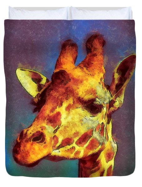 Giraffe Abstract Duvet Cover