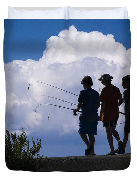 Going Fishing Duvet Cover