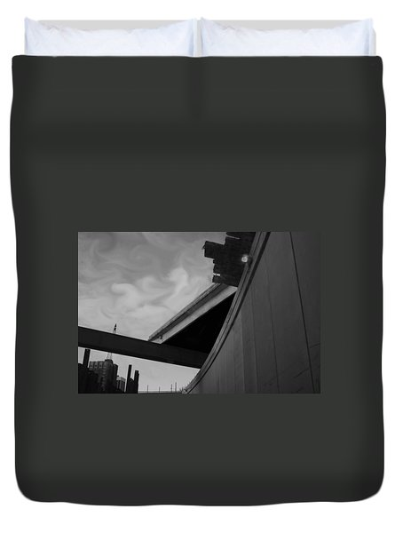 Duvet Cover featuring the photograph Going Under by Jamie Lynn