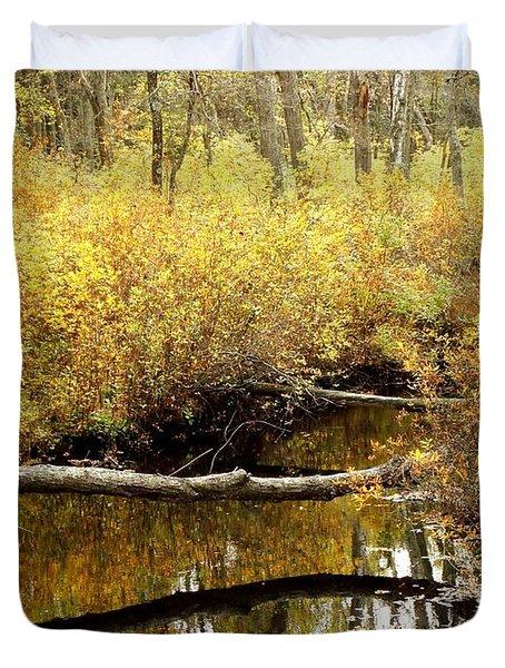Golden Creek Duvet Cover