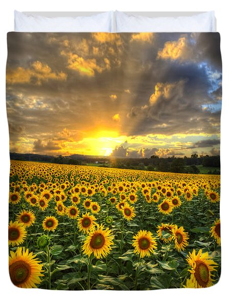 Golden Evening Duvet Cover by Debra and Dave Vanderlaan