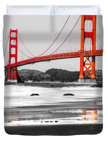 Golden Gate - San Francisco - California - Usa Duvet Cover by Luciano Mortula