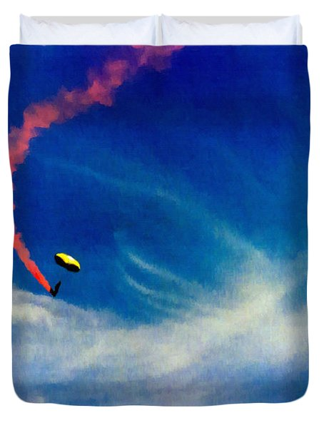 Golden Knights Painting Duvet Cover