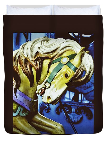 Golden Steed Duvet Cover by JAMART Photography