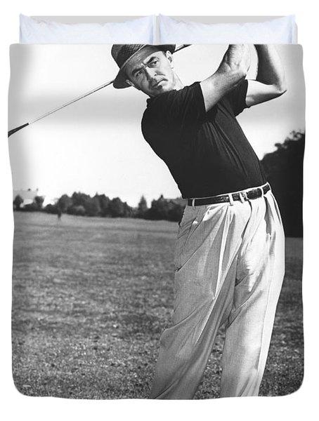 Golfer Sam Snead Duvet Cover by Underwood Archives