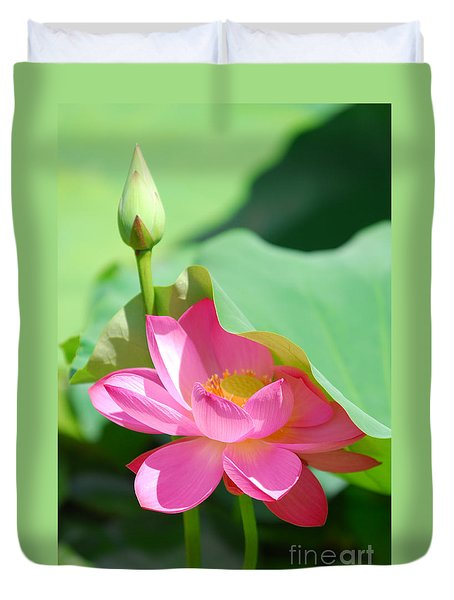 D48l-96 Water Lily At Goodale Park Photo Duvet Cover