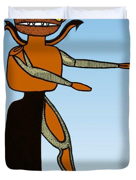 Gorgon, Legendary Creature Duvet Cover