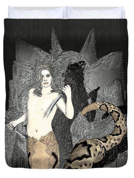 Gorgon Medusa  Duvet Cover by Quim Abella