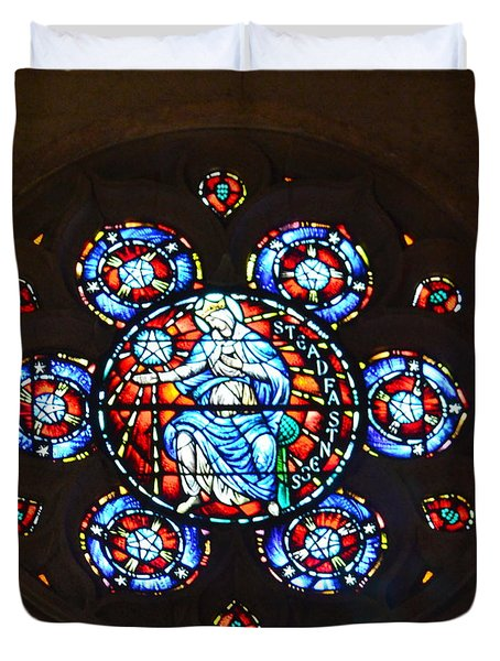 Grace Cathedral Duvet Cover by Dean Ferreira