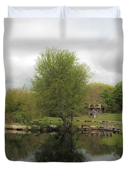Grays Mill Pond Duvet Cover by Angela DeFrias
