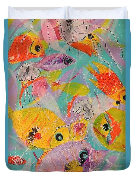 Great Barrier Reef Fish Duvet Cover