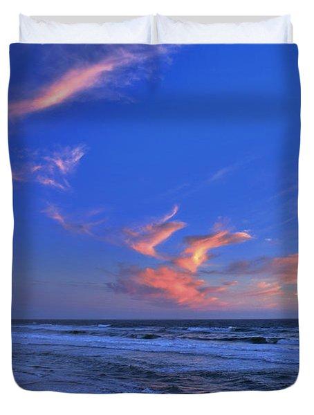 Great Highway Sunset Duvet Cover