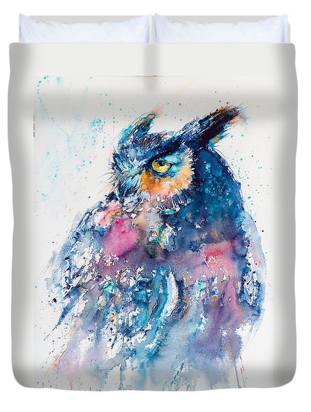 Great Horned Owl Duvet Cover by Kovacs Anna Brigitta