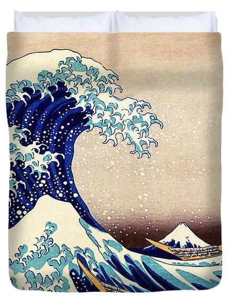Great Wave Off Kanagawa Duvet Cover