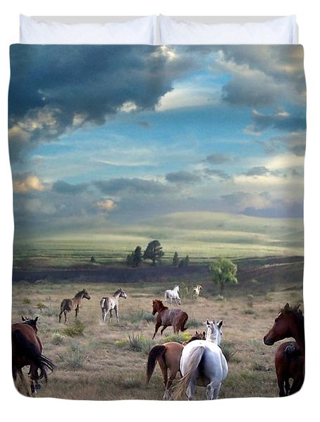 Greener Pastures Duvet Cover by Bill Stephens
