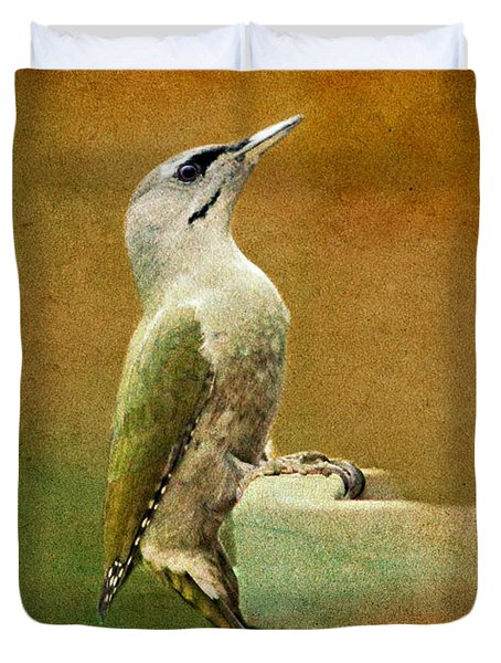 Grey-headed Woodpecker Duvet Cover by Heike Hultsch