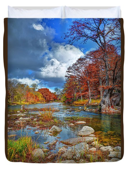 Guadalupe In The Fall Duvet Cover
