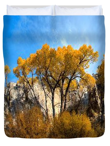 Duvet Cover featuring the photograph Guardians by David Andersen