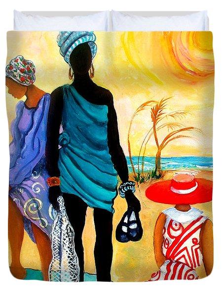 Gullah-creole Trio  Duvet Cover