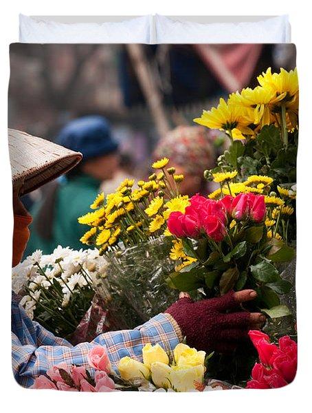 Hanoi Flowers 03 Duvet Cover