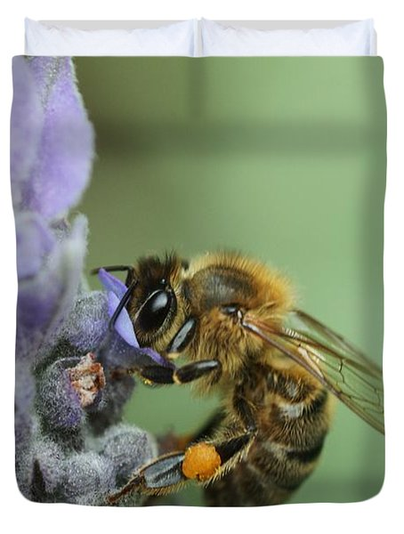 Happy Bee Duvet Cover by Joy Watson