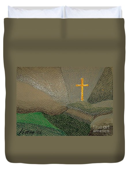 Depression And The Saviour Duvet Cover by Rod Ismay
