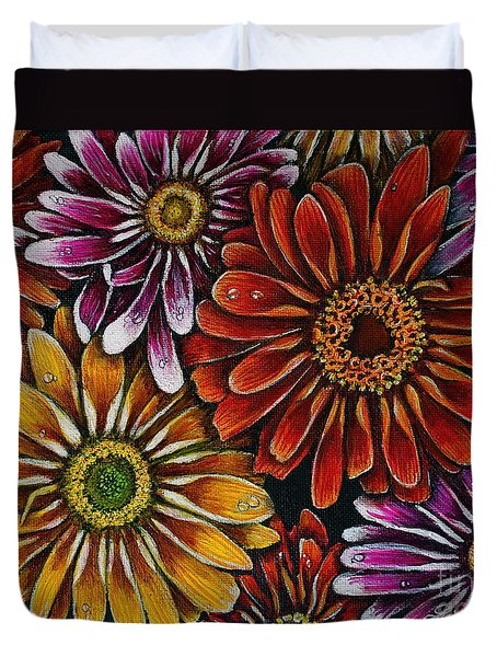 Happy Duvet Cover by Linda Simon