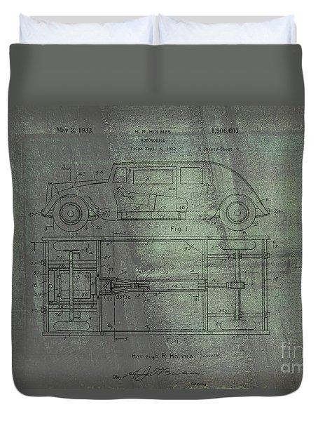 Harleigh Holmes Original Automobile Patent  Duvet Cover