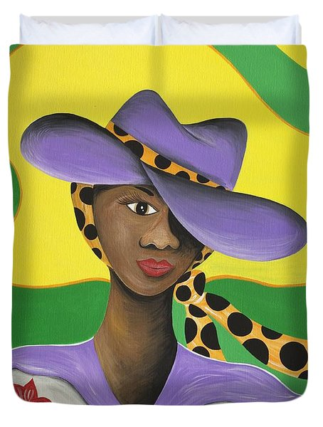 Hat Appeal Duvet Cover by Patricia Sabree