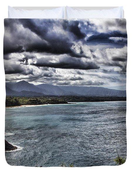 Hawaii Big Island Coastline V2 Duvet Cover by Douglas Barnard