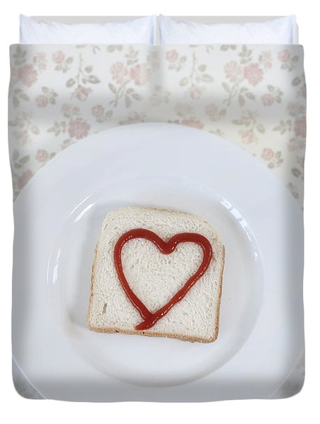 Hearty Toast Duvet Cover by Joana Kruse