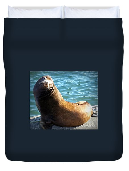 Hello Duvet Cover by Chalet Roome-Rigdon