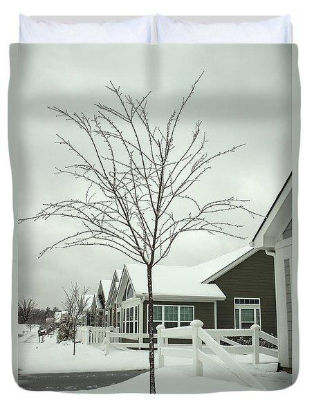 Hello Snow Duvet Cover