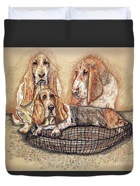Hess'er Puppies Duvet Cover