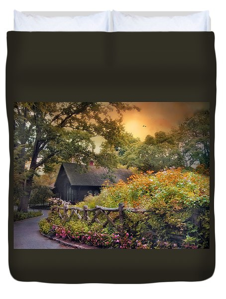 Duvet Cover featuring the photograph Hidden Charm by Jessica Jenney