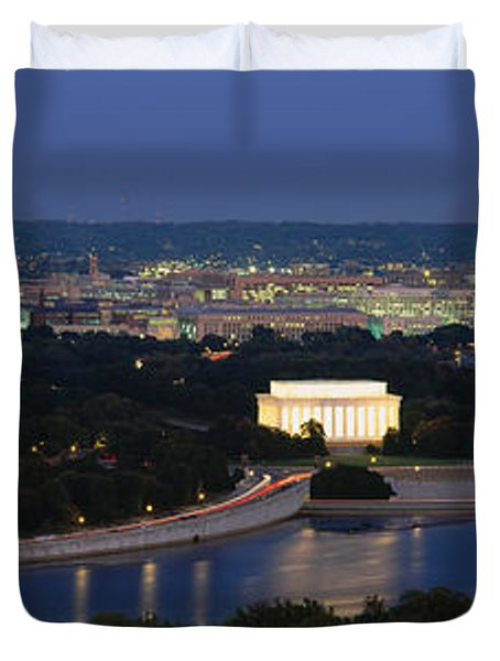 High Angle View Of A City, Washington Duvet Cover
