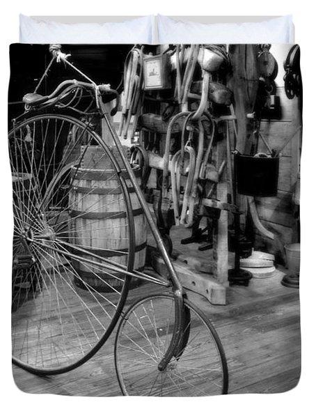 High Wheel 'penny-farthing' Bike Duvet Cover by Christine Till