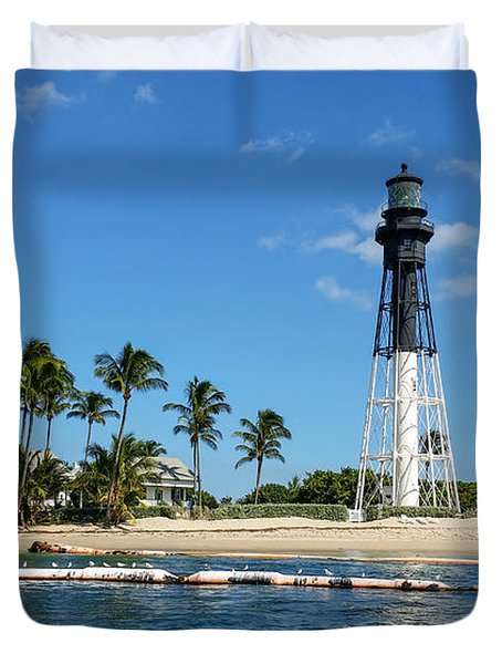 Hillsboro Inlet Lighthouse Duvet Cover
