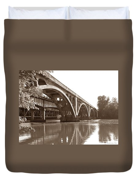 Historic Wil-cox Bridge Duvet Cover by Matt Taylor
