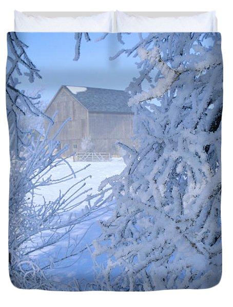 Hoarfrost Farm Duvet Cover