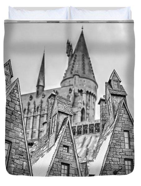 Postcard From Hogsmeade Duvet Cover by Edward Fielding