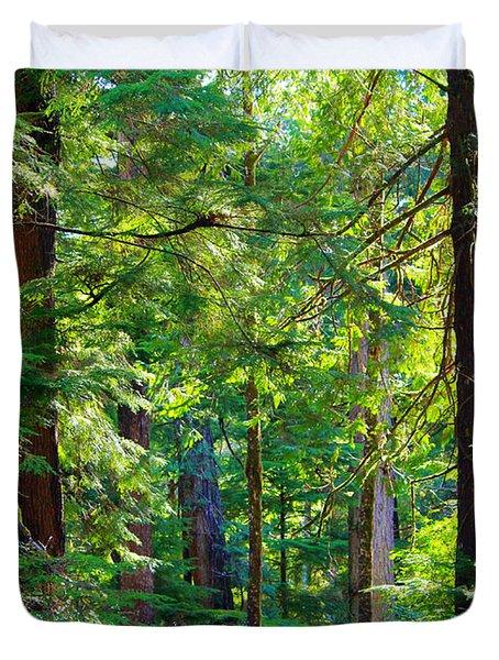 Hoh Rain Forest Duvet Cover