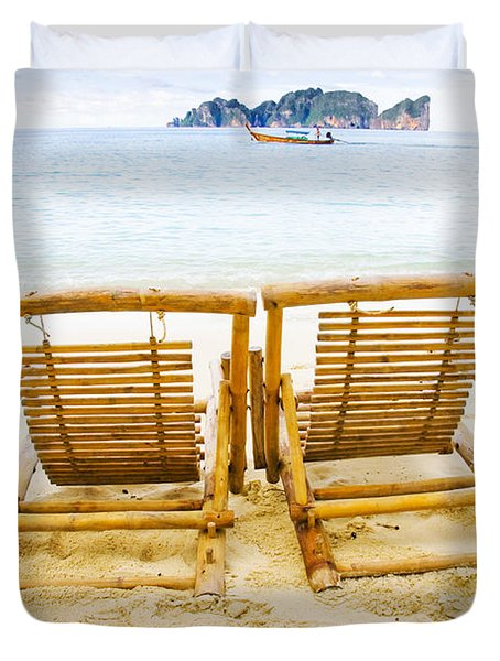 Holiday In Thai Paradise Duvet Cover