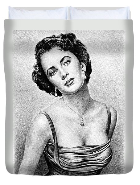 Hollywood Greats  Elizabeth Taylor Duvet Cover